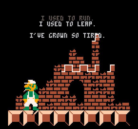 Josh Millardin Ennuigi on pikemminkin minimalistinen taide-elokuva kuin peli. Kyseessä on viipyilevän melankolinen tulkinta Super Mario Bros -pelin tarinasta.